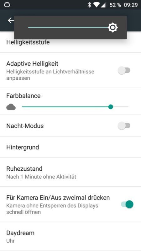 OnePlus 3 Displayeinstellungen